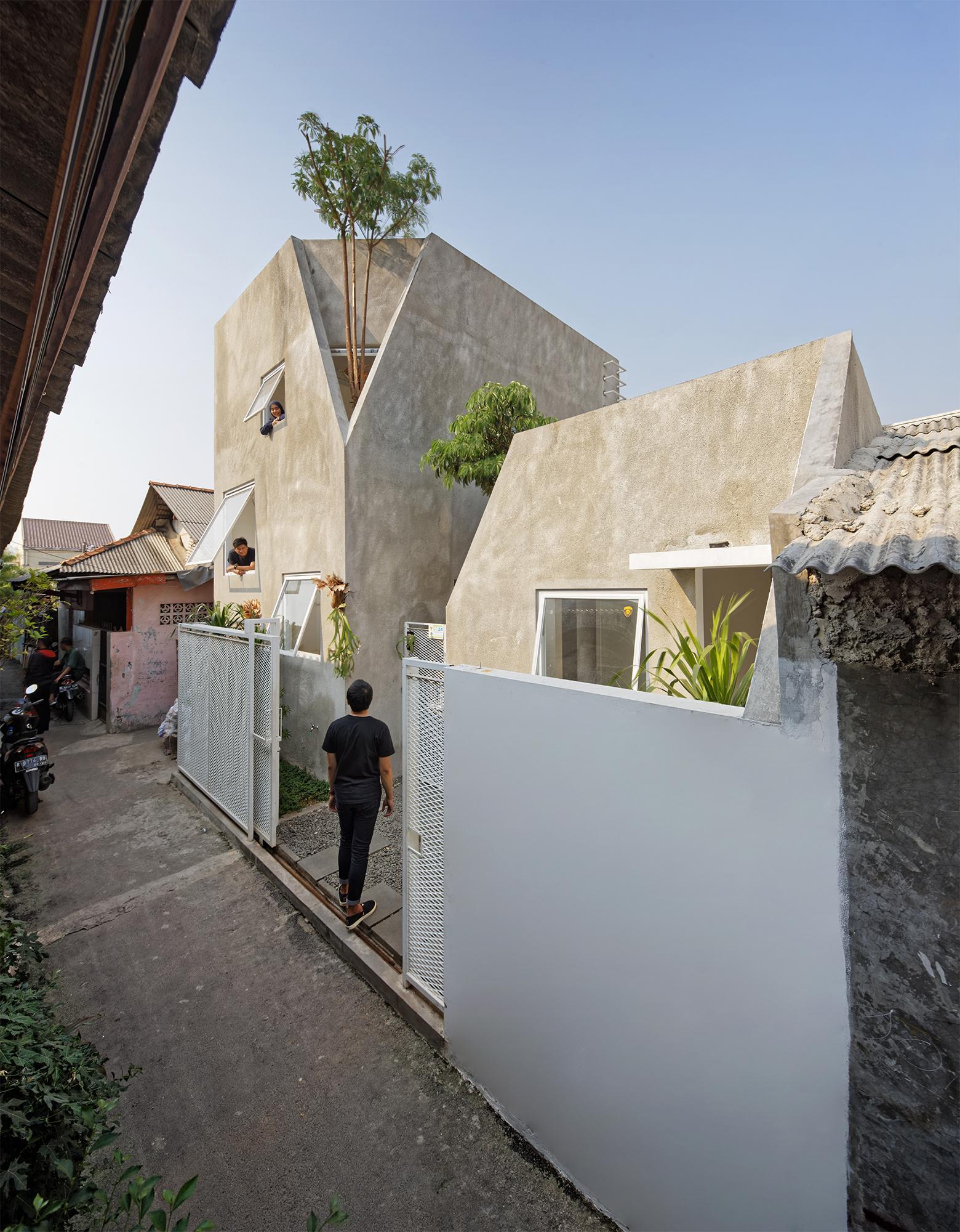 twin house delution - arquitectos contemporáneos